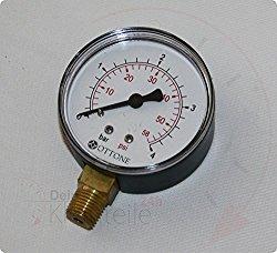 Manometer 0 … 4 Bar, Anschluss Messing G 1/4″ unten, NG 63 Kunststoffgehäuse